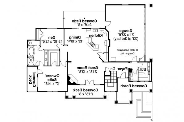 Prairie Style House Plan - Edenbridge 30-626 - 1st Floor Plan