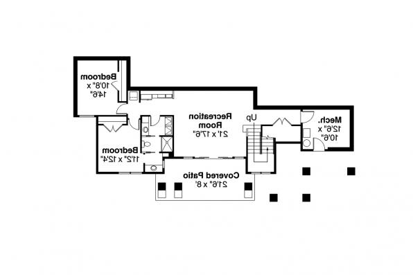 Prairie Style House Plan - Edenbridge 30-626 - Daylight Basement Plan