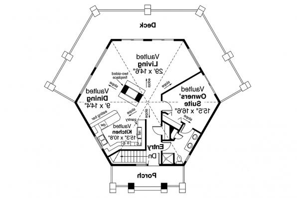Prairie Style House Plan - Grandview 10-249 - 1st Floor Plan