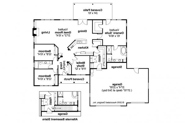 Prairie Style House Plan - Heartshaven 10-525 - Floor Plan