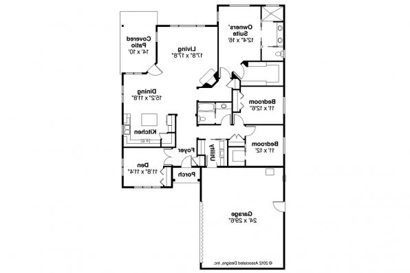 Prairie Style House Plan - Oakdale 30-881 - Floor Plan