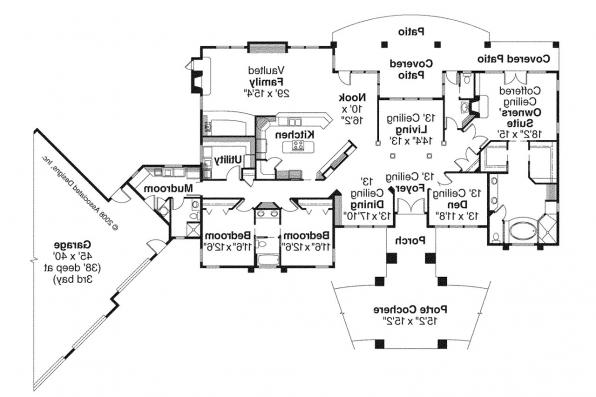 Prairie Style House Plan - Westfair 30-445 - Floor Plan