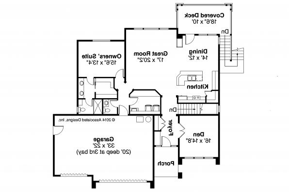 Prairie Style House Plan - Hood River 30-947 - First Floor Plan