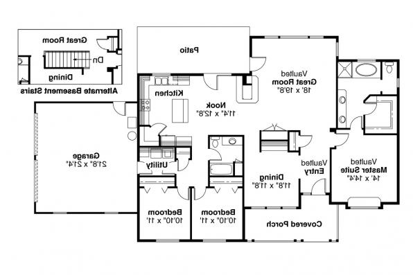 Ranch House Plan - Alpine 30-043 - Floor Plan