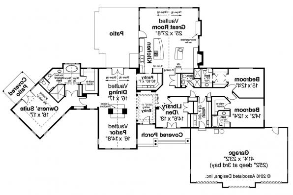 Ranch House Plan - Bellewood 30-292 - Floor Plan