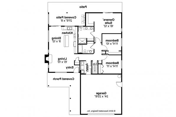 Ranch House Plan - Belmont 30-945 - First Floor Plan
