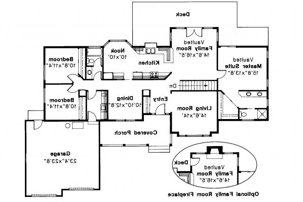 Ranch House Plan - Benton 10-048 - Floor Plan