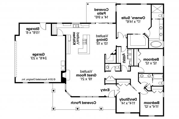 Ranch House Plan - Brightheart 10-610 - Floor Plan