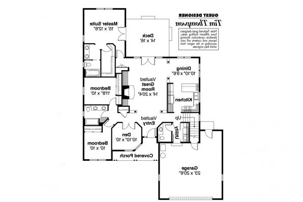 Ranch House Plan - Chesapeake 50-007 - 1st Floor Plan