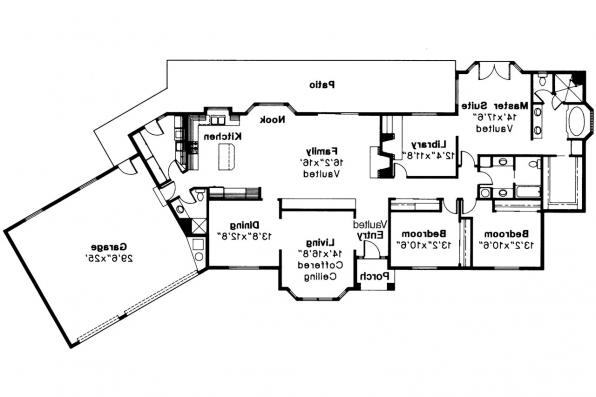 Ranch House Plan - Cleargrove 10-132 - Floor Plan