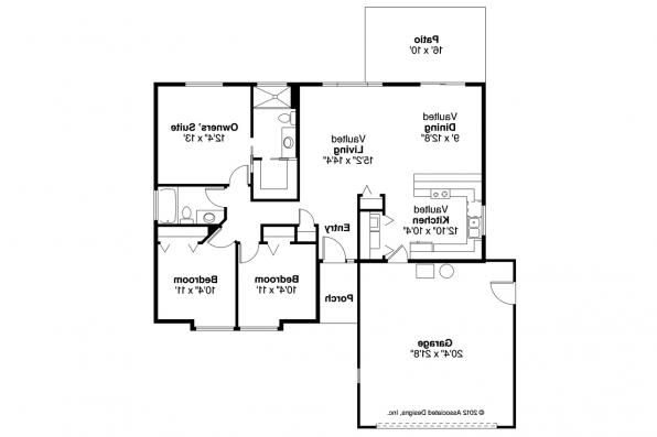 Ranch House Plan - Copperfield 30-801 - Floor Plan