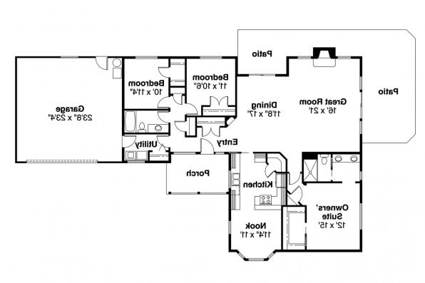 Ranch House Plan - Corinth 30-325 - Floor Plan