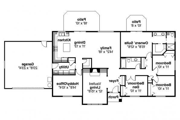 Ranch House Plan - Elliot 30-278 - Floor Plan