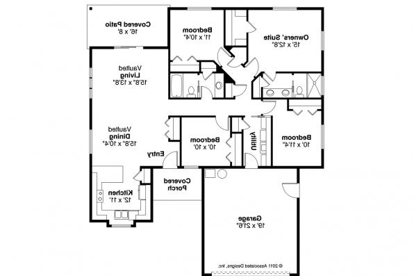 Ranch House Plan - Foster 30-846 - Floor Plan