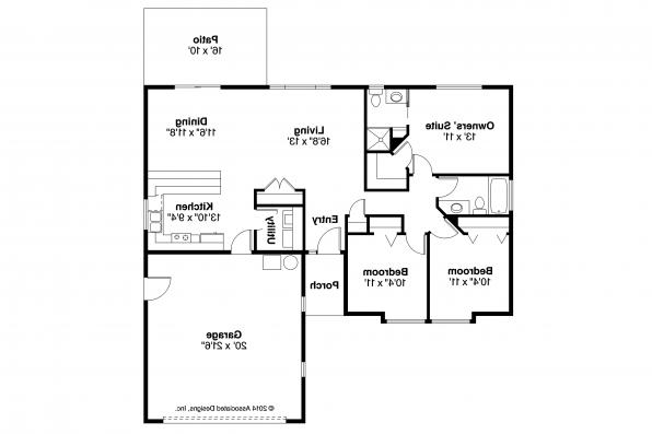 Ranch House Plan - Halsey 30-847 - Floor Plan