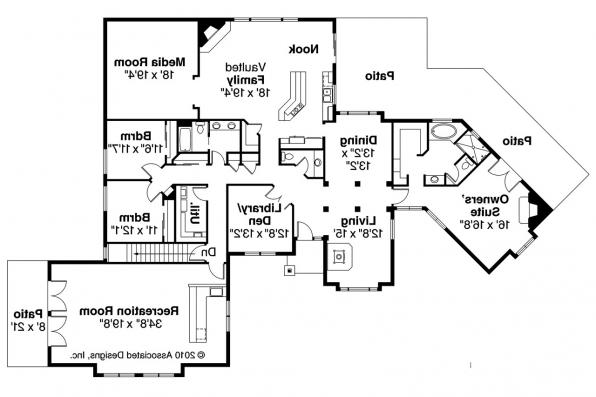 Ranch House Plan - Hillcrest 10-557 - Floor Plan