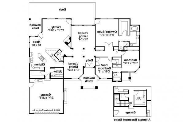 Ranch House Plan - Jamison 10-081 - Floor Plan