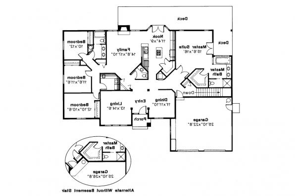 Ranch House Plan - Jefferson 10-056 - Floor Plan