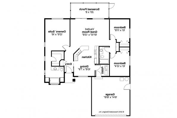Ranch House Plan - Lamar 11-106 - Floor Plan