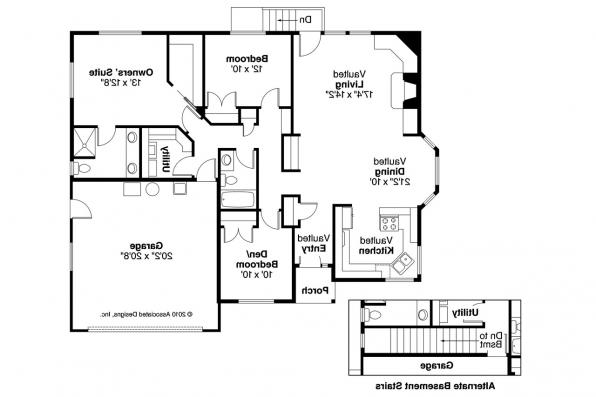 Ranch House Plan - Lander 30-225 - Floor Plan