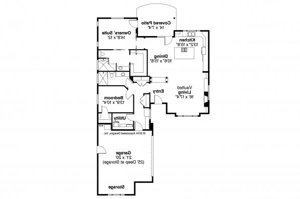 Ranch House Plan - Lostine 30-942 - Floor Plan