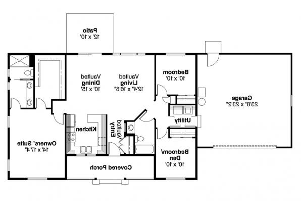 Ranch House Plan - Mackay 30-459 - Floor Plan