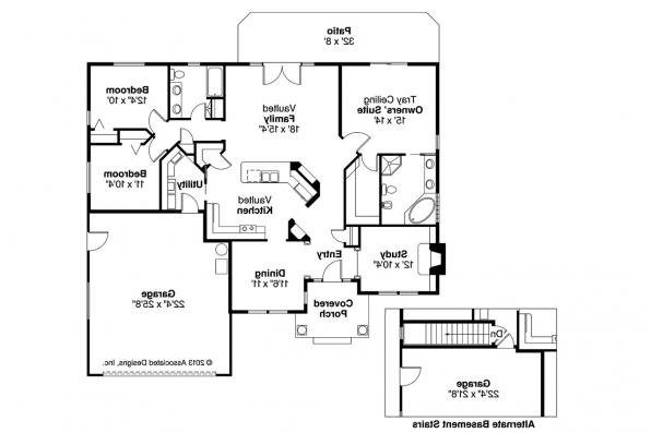 Ranch House Plan - Marlowe 30-362 - Floor Plan
