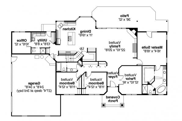 Ranch House Plan - Maxwell 30-458 - 1st Floor Plan