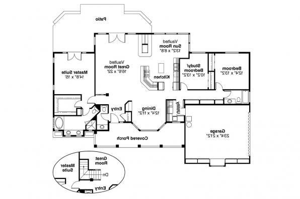Ranch House Plan - Nueces 10-209 - Floor Plan