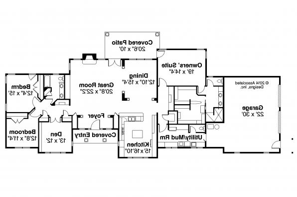 Ranch House Plan - Parkdale 30-684 - Floor Plan