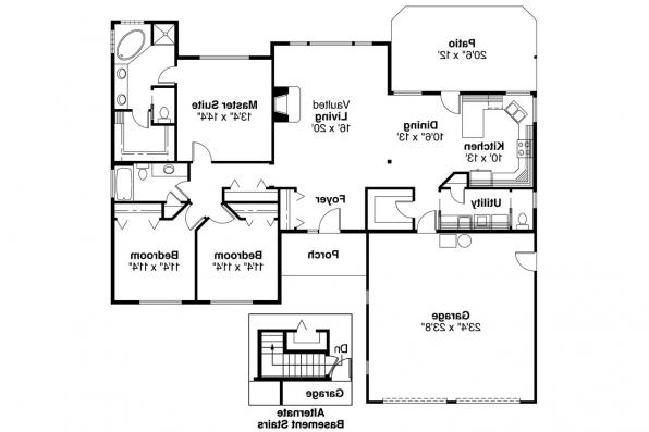 Ranch House Plan - Paxton 30-320 - Floor Plan