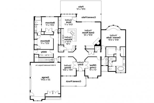 Ranch House Plan - Rainier 10-303 - Floor Plan