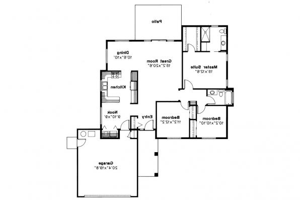 Ranch House Plan - Renton 10-177 - Floor Plan