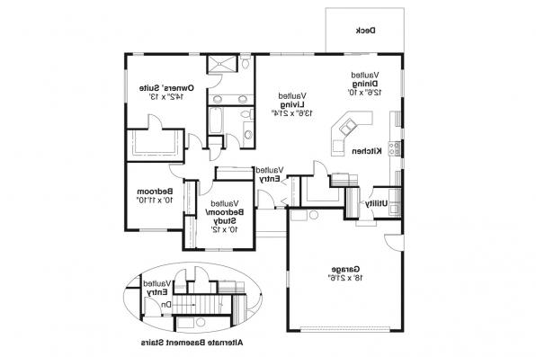 Ranch House Plan - Rexburg 30-068 - Floor Plan