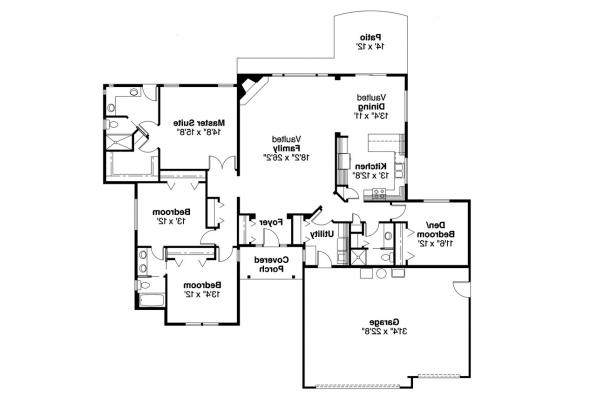 Ranch House Plan - Rollins 30-330 - Floor Plan