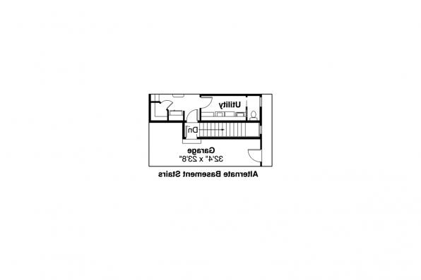 Ranch House Plan - Ryland 30-336 - Alternate Basement Stair