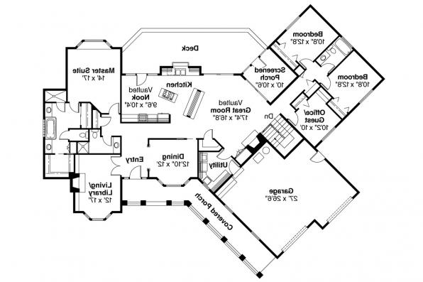 Ranch House Plan - Saginaw 10-251 - Floor Plan