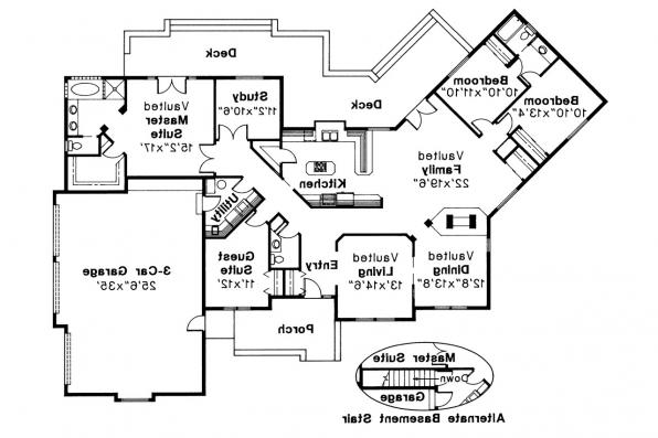 Ranch House Plan - Stonecrest 10-054 - Floor Plan