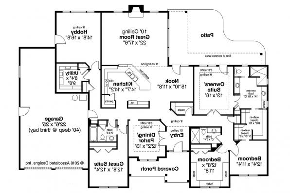 Ranch House Plan - West Creek 30-781 - Floor Plan
