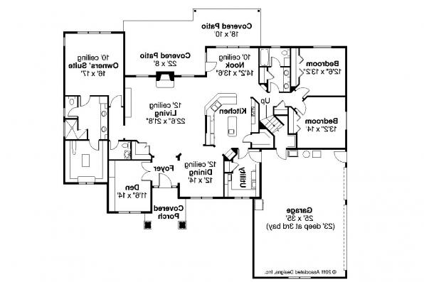 Ranch House Plan - Willamette 30-788 - Floor Plan