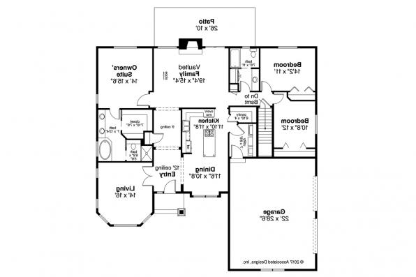 Shingle Style House Plan - Red Oak 30-922 - Floor Plan