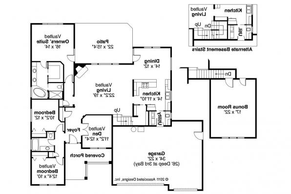 Shingle Style House Plan - Schuyler 30-522 - Floor Plan