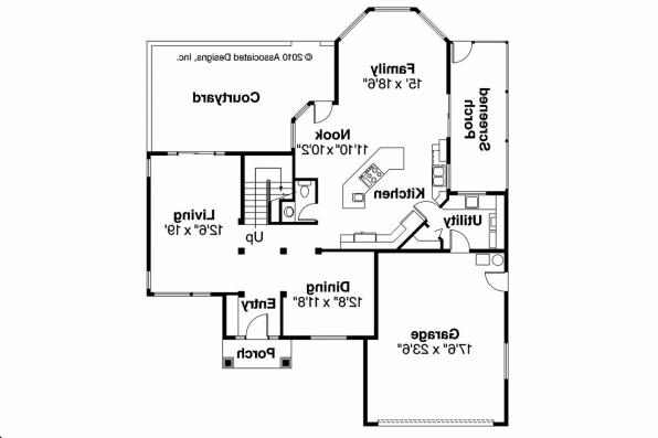 Southwest House Plan - Bellaire 11-050 - 1st Floor Plan