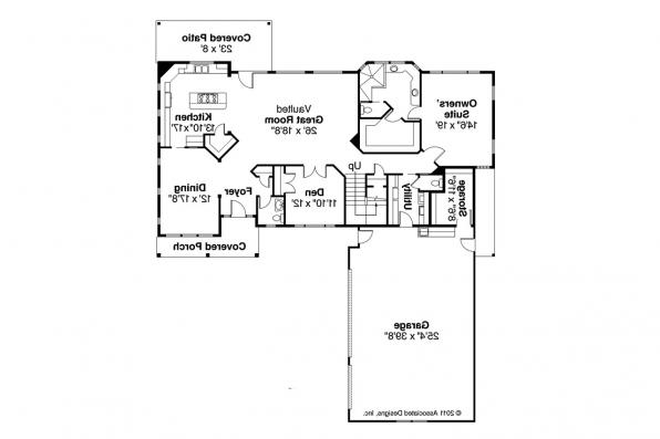 Southwest House Plan - Casselman 30-432 - 1st Floor Plan