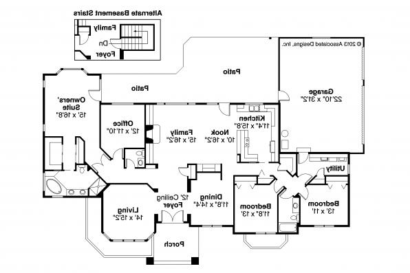 Southwest House Plan - Lantana 30-177 - Floor Plan