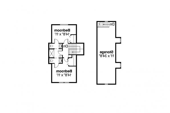 Southwest House Plan - Noranda 30-123 - Second Floor Plan
