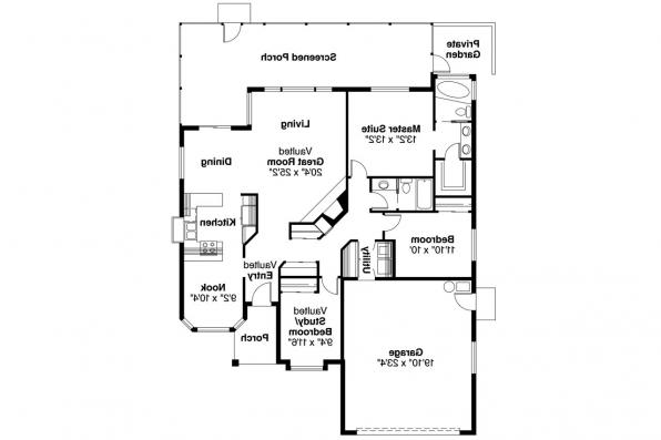 Spanish Style House Plan - Arcadia 11-003 - Floor Plan