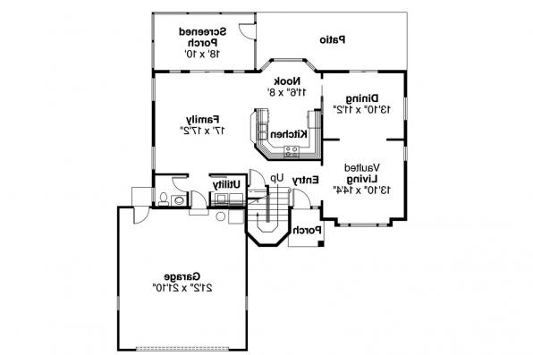 Spanish Style House Plan - Villa Real 11-067 - 1st Floor Plan