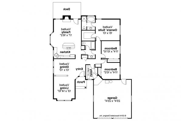 Traditional House Plan - Akron 10-038 - Floor Plan