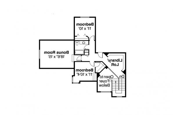 Traditional House Plan - Bloomsburg 30-667 - 2nd Floor Plan